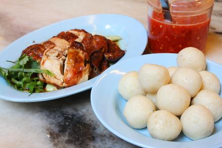 Chicken Rice Balls in Melaka, Malaysia photo