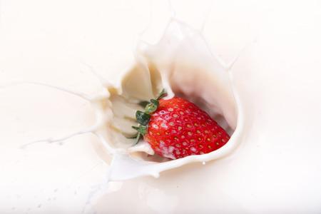 strawberry splash: Strawberry splash on milk