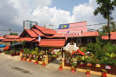 A traditional Malay house in Kampung Morten, Melaka, Malaysia. Editorial