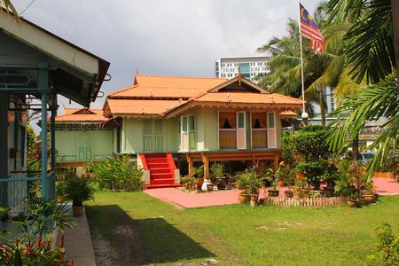 Kampung Morten, 말라 카, 말레이시아에있는 전통적인 말레이 하우스.