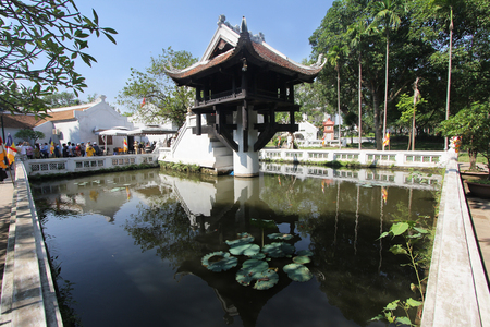 베트남 하노이의 한 기둥 탑