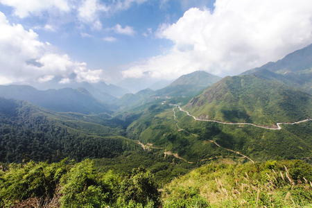 lao: Tram Ton or Heavens gate pass in the Lao cai province in Vietnam