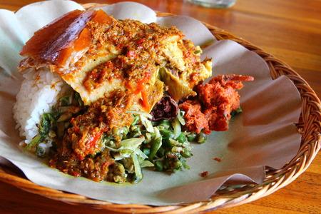 Balinese Babi Guling Mahlzeit oder Spanferkel
