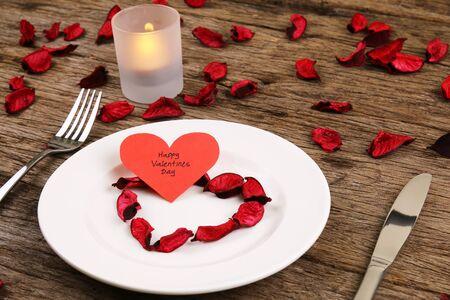 Valentines day dinner date Stockfoto