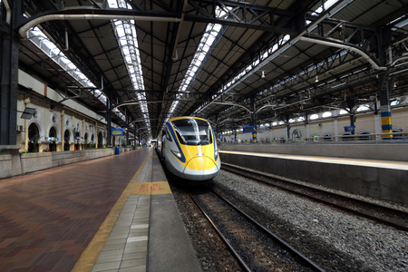 kuala: The new ETS class 93 high speed train at the old KL Station.