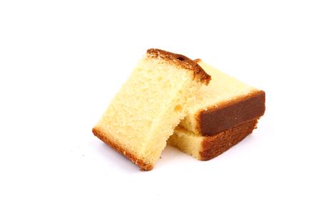 버터 밀크 케이크 흰색 절연