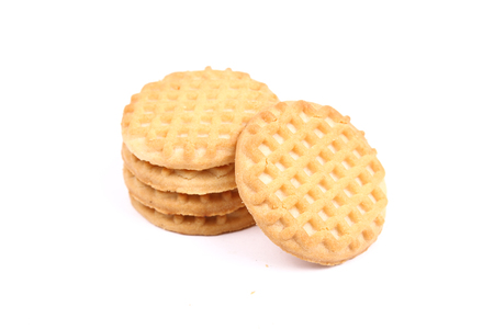 Milk biscuits isolated on white