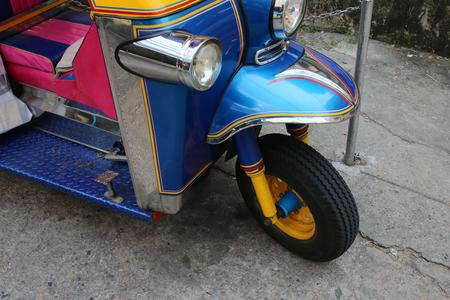 방콕, 태국의 거리에서 툭툭 스톡 콘텐츠