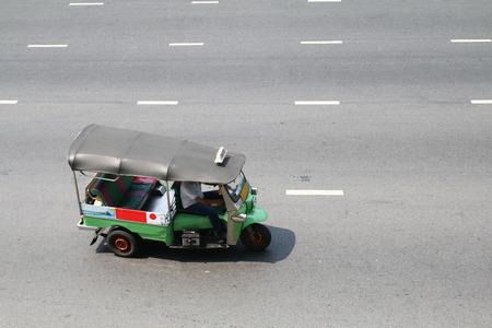 Tuk tuk on the streets of Bangkok, Thailand