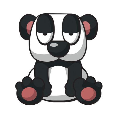 shape cub: Sleepy panda Illustration