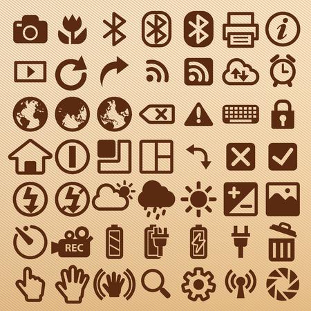 Camera symbols EPS10 vector