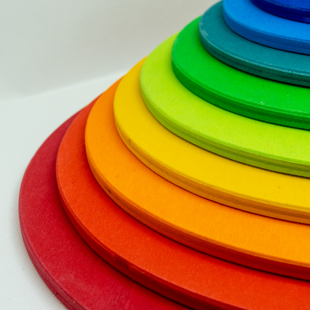 colorful stairs - building blocks - rainbow colors