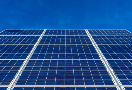 solar panels of a photovoltaic power plant