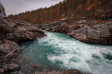 White water river in the mountains