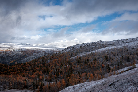 Mountain view during autumn or winter