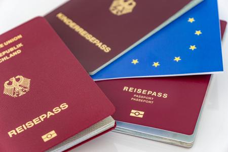 European passport - German passport with the German word Zdjęcie Seryjne