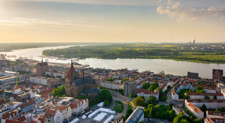 aerial view of Rostock - view over the river warnow Zdjęcie Seryjne