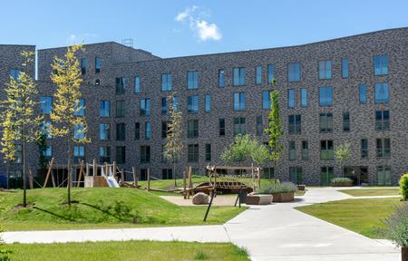 Modern building for living - facade with windows - sunny day Zdjęcie Seryjne