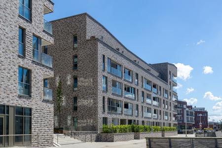 Modern buildings for living - facade with windows and balconies Zdjęcie Seryjne