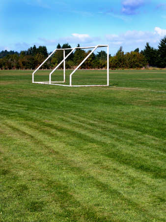 Soccer goal Banco de Imagens