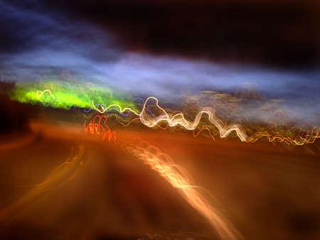 Highway corner(long exposure) Stok Fotoğraf