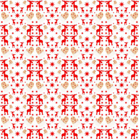 christma pattern seamless car red santa gifs elk star