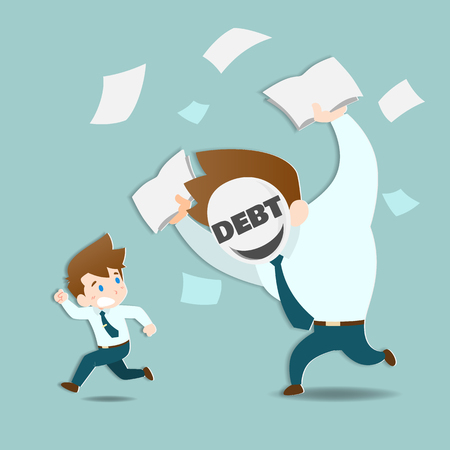 Businessmen are afraid and running away from the huge debts that are chasing very fast.
