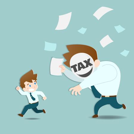 Geschäftsleute haben Angst und fliehen vor den riesigen Steuern, die sehr schnell jagen.