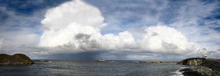 panoramic view at Atlantic Road in Norway Stock Photo - 1585293