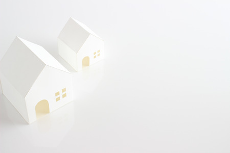 excise: toy house  on the white background Stock Photo
