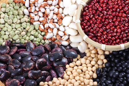 colander: variety beans on colander