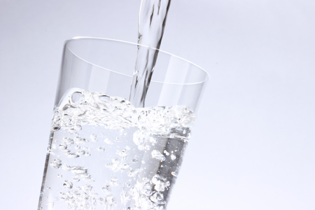 pour the water