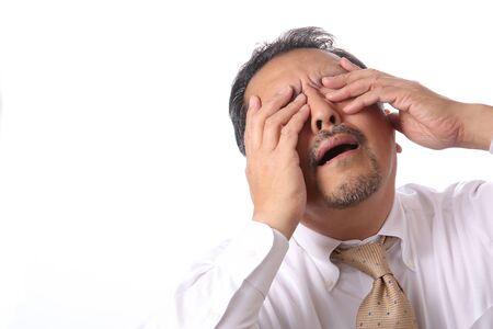 poor man: Hombre asi�tico frustrado Foto de archivo
