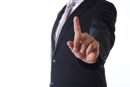 homme d'affaires asiatique sur fond blanc