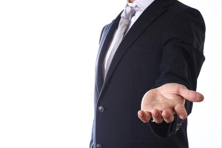 asian businessman on white background