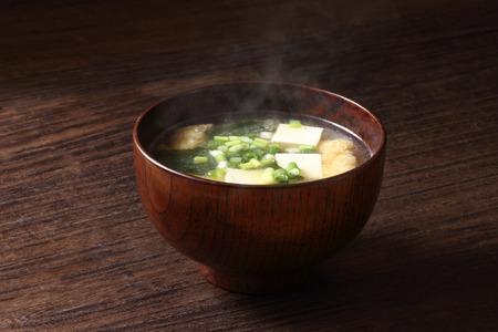 味噌スープ 写真素材