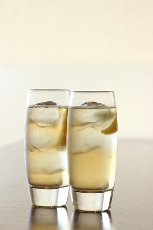 ウイスキーのソーダ割り 写真素材