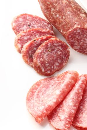 epicure: Closeup of  sliced salami