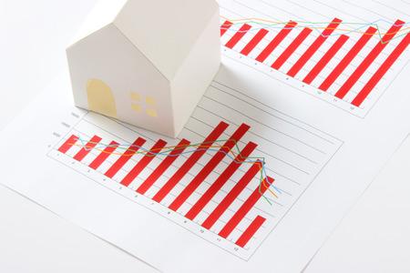 model of house on white background Stock Photo