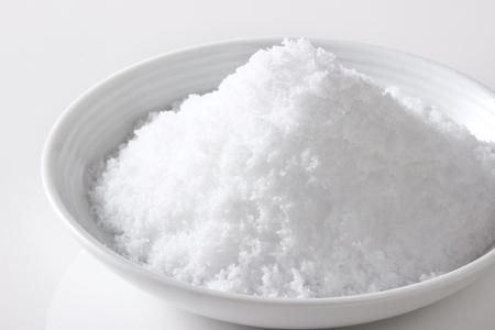 salt on white background
