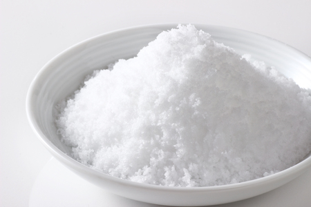 salt on white background