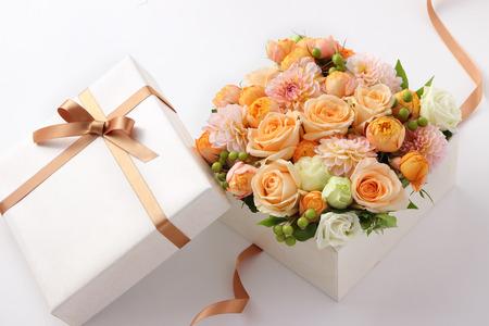 flower gift on white background