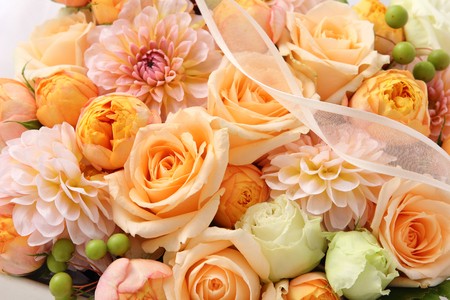 flower gift on white background Stock Photo