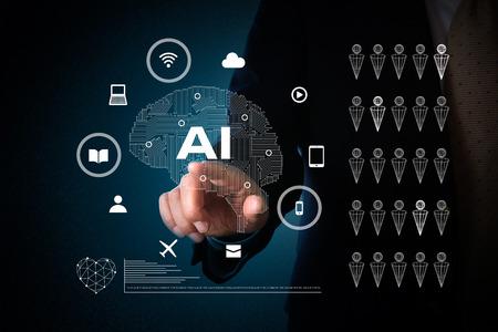 concept d'intelligence artificielle Banque d'images