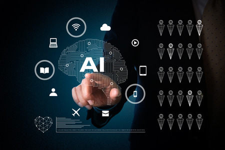 artificial intelligence concept Stockfoto