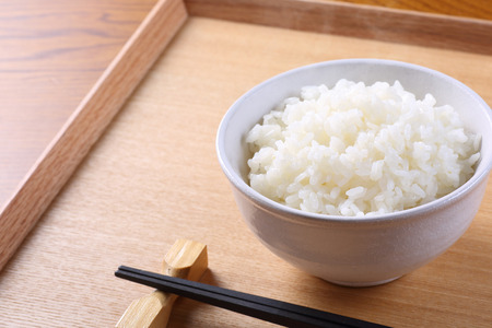 japanese rice on the table Stock Photo