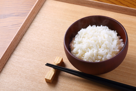 japanese rice on the table Standard-Bild