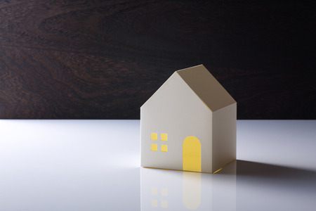 model of house on the white background