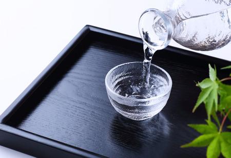 Pouring japanese sake