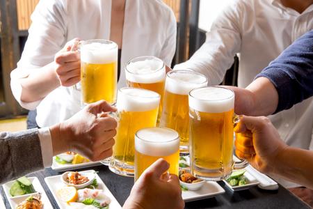 A toast in a pub Foto de archivo